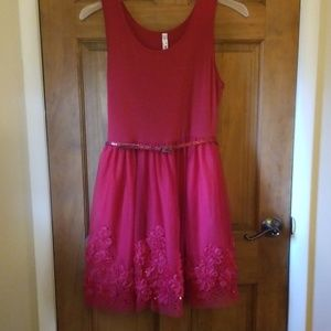 Knit Works Red Girls Plus Holiday Dress